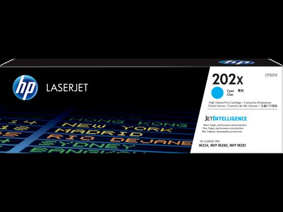 HP 202X High Yield Cyan Original LaserJet Toner Cartridge