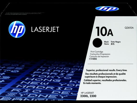 HP 10A Black Original LaserJet Toner Cartridge, Q2610A