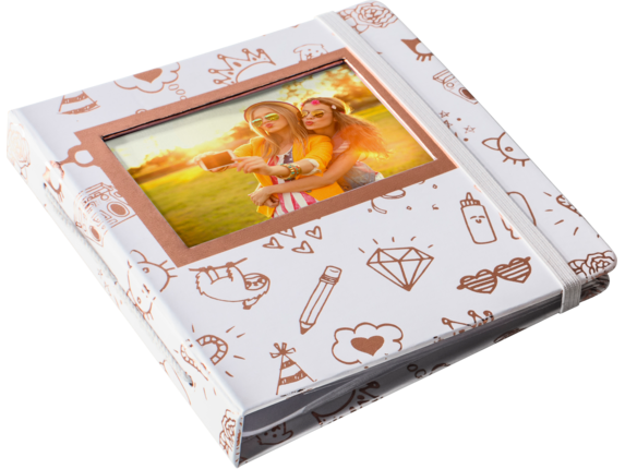 HP Sprocket Gold & White Album