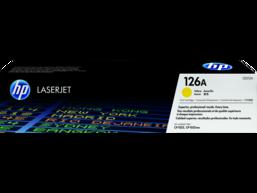 HP 126A Yellow Original LaserJet Toner Cartridge, CE312A