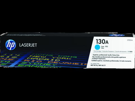 HP 130A Cyan Original LaserJet Toner Cartridge, CF351A