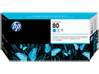 HP 80 Cyan DesignJet Printhead and Printhead Cleaner - Center