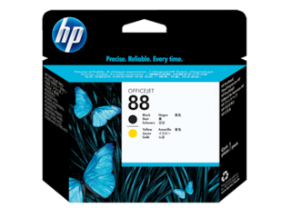 HP 88 Black and Yellow Original Printhead, C9381A