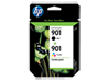 HP 901 2-pack Black/Tri-color Original Ink Cartridges
