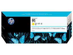 HP 91 775-ml Yellow DesignJet Pigment Ink Cartridge