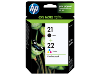 HP 21 Black/22 Tri-color 2-pack Original Ink Cartridges, C9509FN#140