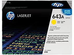 HP 643A Yellow Original LaserJet Toner Cartridge, Q5952A