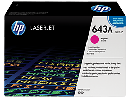 HP 643A Magenta Original LaserJet Toner Cartridge, Q5953A