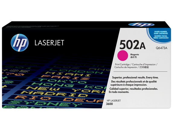 HP 502A Magenta Original LaserJet Toner Cartridge, Q6473A