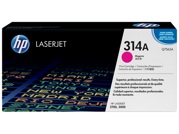 HP 314A Magenta Original LaserJet Toner Cartridge, Q7563A