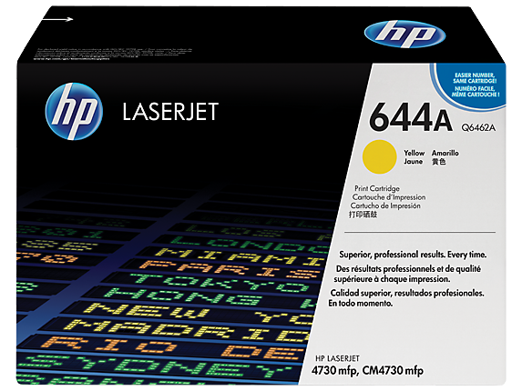 HP 644A Yellow Original LaserJet Toner Cartridge, Q6462A