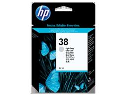 HP 38 Light Gray Pigment Original Ink Cartridge