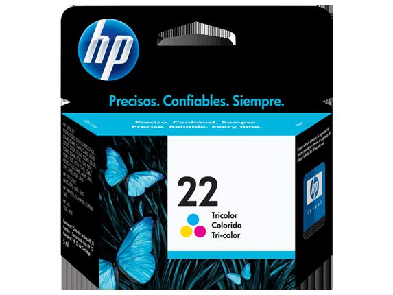 HP 22 Tri-color Original Ink Cartridge, C9352AN#140