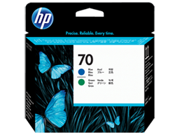 HP 70 Blue and Green DesignJet Printhead