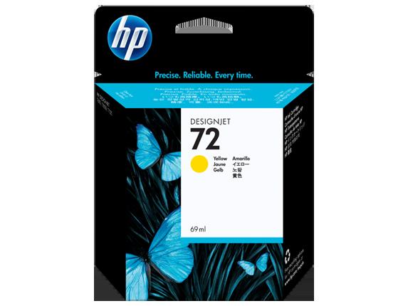 HP 72 69-ml Yellow DesignJet Ink Cartridge - Center