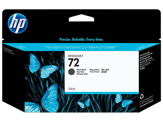 HP 72 130-ml Matte Black DesignJet Ink Cartridge