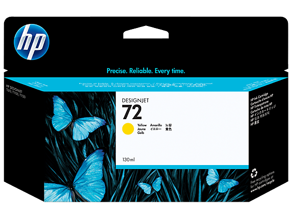 HP 72 130-ml Yellow DesignJet Ink Cartridge - Center