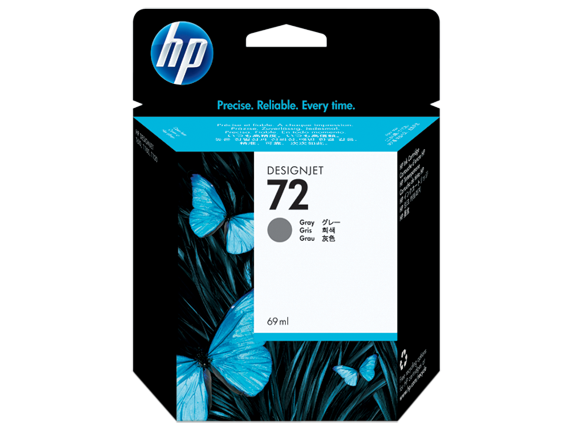 HP 72 69-ml Gray DesignJet Ink Cartridge