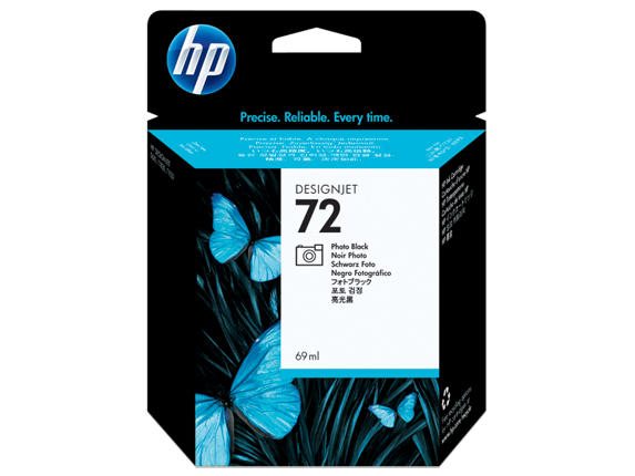 HP 72 69-ml Photo Black DesignJet Ink Cartridge - Center