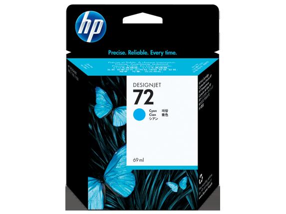 HP 72 69-ml Cyan DesignJet Ink Cartridge - Center