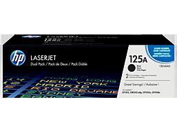 HP 125A 2-pack Black Original LaserJet Toner Cartridges, CB540AD