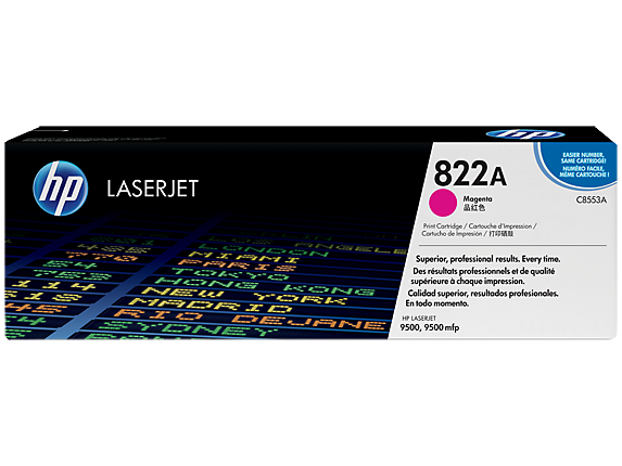 HP 822A Magenta Original LaserJet Toner Cartridge, C8553A