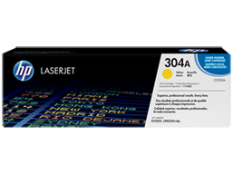 HP 304A Yellow Original LaserJet Toner Cartridge, CC532A