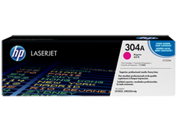 HP 304A Magenta Original LaserJet Toner Cartridge, CC533A