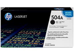 HP 504A Black Original LaserJet Toner Cartridge, CE250A