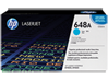 HP 648A Cyan Original LaserJet Toner Cartridge, CE261A