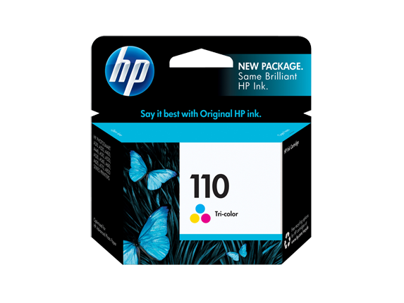 HP 110 Tri-color Original Ink Cartridge - Center