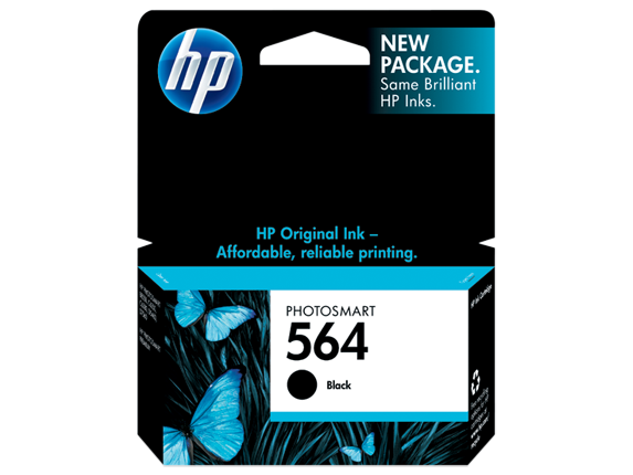 HP 564 Black Original Ink Cartridge - Center