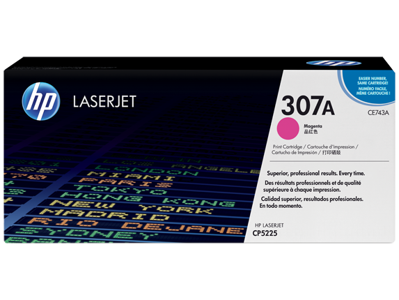 HP 307A Magenta Original LaserJet Toner Cartridge, CE743A - Center