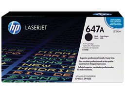 HP 647A Black Original LaserJet Toner Cartridge, CE260A