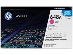 HP 648A Magenta Original LaserJet Toner Cartridge, CE263A