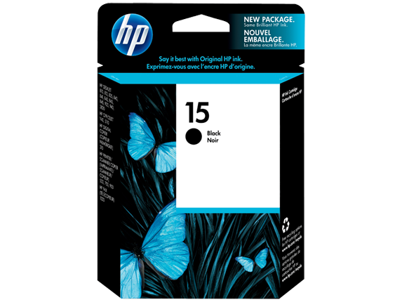 HP 15 Black Original Ink Cartridge
