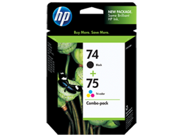 HP 74 Black/75 Tri-color 2-pack Original Ink Cartridges