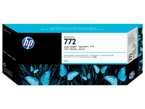 HP 772 300-ml Photo Black DesignJet Ink Cartridge - Center
