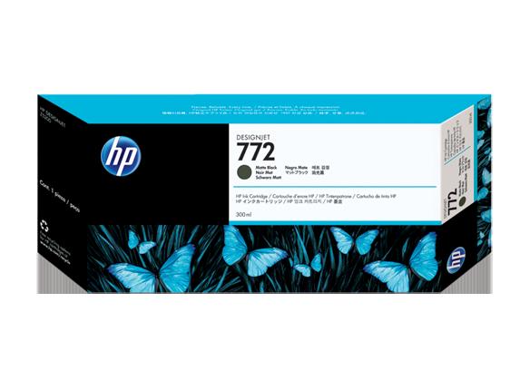 HP 772 300-ml Matte Black DesignJet Ink Cartridge - Center
