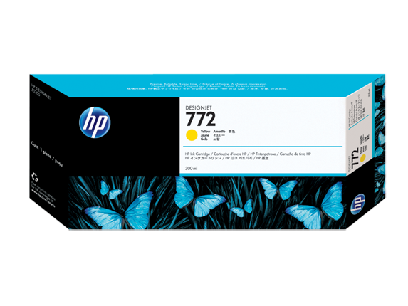 HP 772 300-ml Yellow DesignJet Ink Cartridge - Center