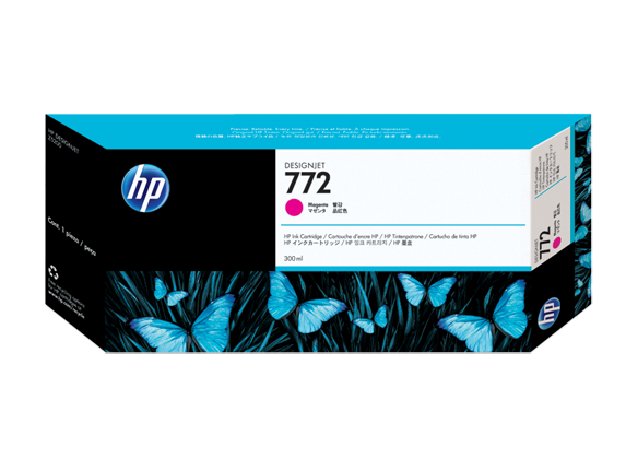 HP 772 300-ml Magenta DesignJet Ink Cartridge, CN629A