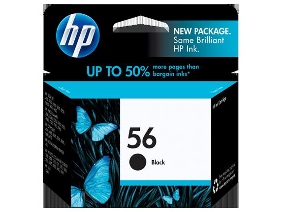 HP 56 Black Original Ink Cartridge - Center