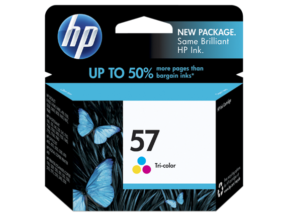 HP 57 Tri-color Original Ink Cartridge - Center