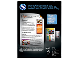 HP Premium Glossy Presentation Paper 120 gsm-250 sht/Letter/8.5 x 11 in