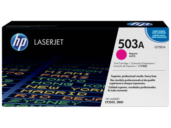 HP 503A Magenta Original LaserJet Toner Cartridge, Q7583A