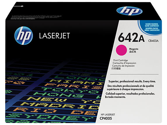 HP 642A Magenta Original LaserJet Toner Cartridge, CB403A