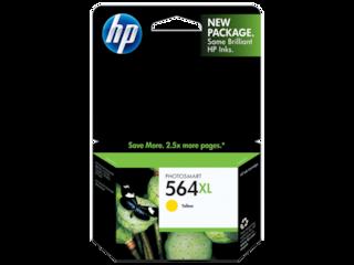 HP 564XL High Yield Yellow Original Ink Cartridge, CB325WN#140