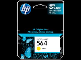 HP 564 Yellow Original Ink Cartridge, CB320WN#140