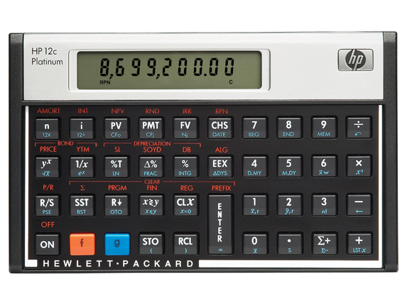 HP 12C Platinum Financial Calculator - Center