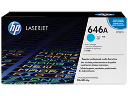 HP 646A Cyan Original LaserJet Toner Cartridge, CF031A